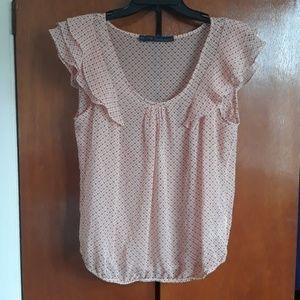 Zara ruffle sleeve shirt size large